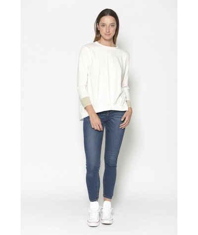 PAN Langarmshirt »PAN Damen Langarmshirt mit kontrastfarbenen Ärmelbündchen«
