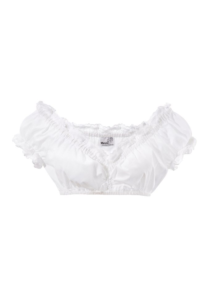 Dirndlbluse, Marjo in weiß