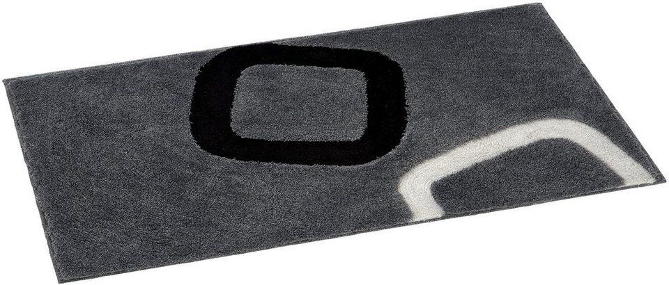 Badematte, Grund, »Arolo, Höhe ca. 24 mm, rutschhemmender Rücken in grau