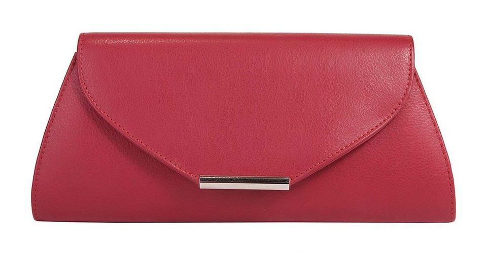 Eastline Leder Damen Abendtasche/ Clutch »City« in rot