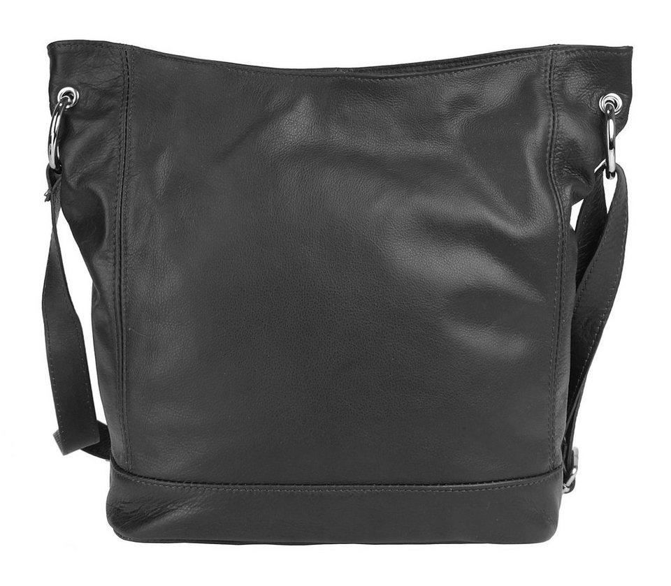 Eastline Leder Damen Umhängetasche »Valencia« in schwarz