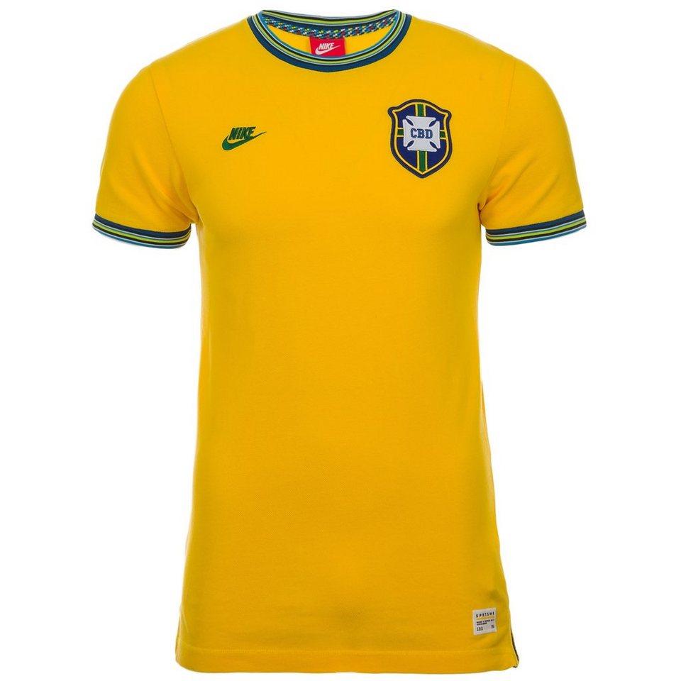 Nike Sportswear Brasilien Covert Retro T-Shirt Herren in gelb / grün