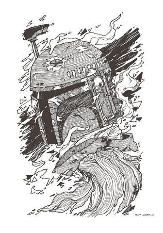 Komar Paveikslas »Star Wars Boba Fett Drawin...