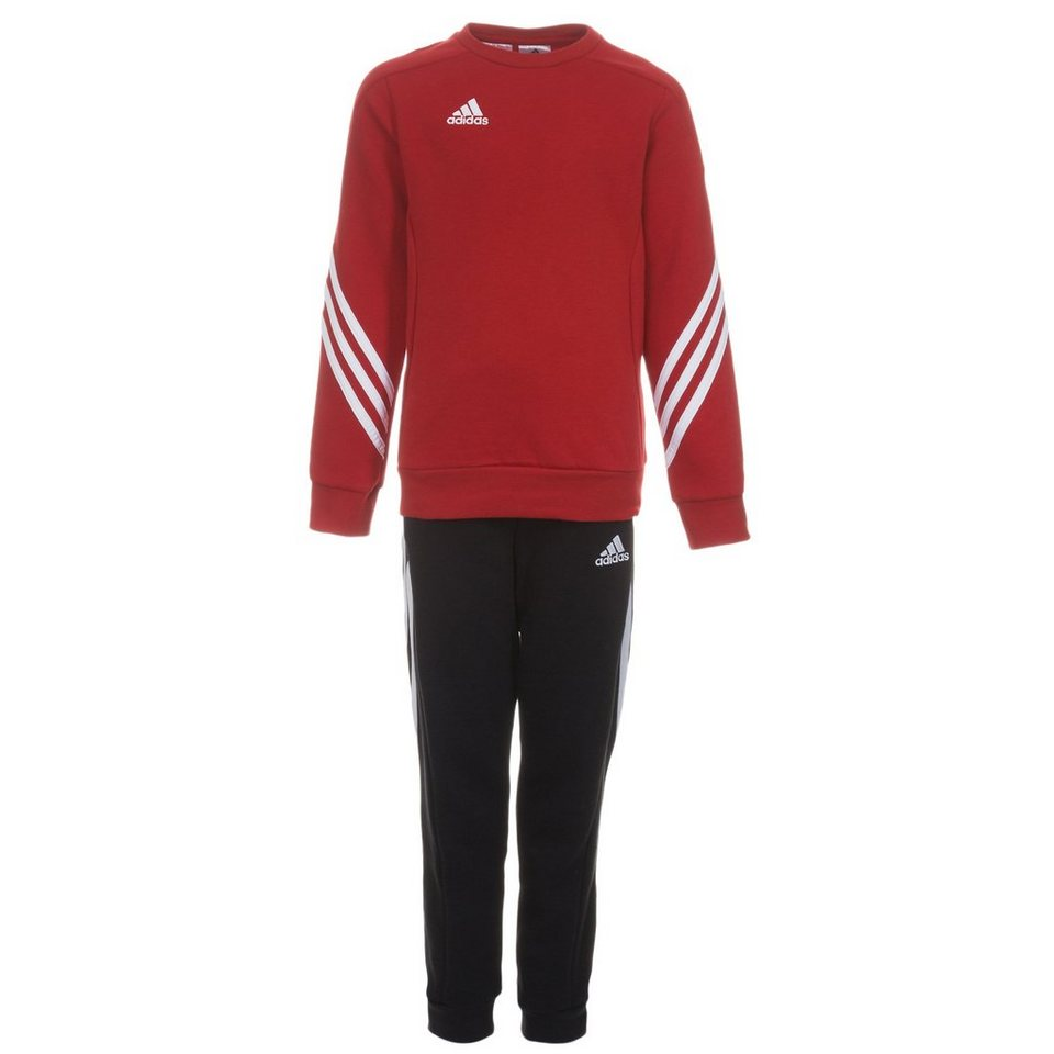 adidas Performance Set: Sereno 14 Trainingsanzug Kinder (Packung, 2 tlg.) in rot / schwarz