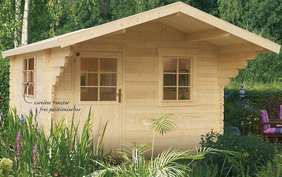 LUOMAN Gartenhaus »Lillevilla 278«, BxT: 350x300 cm, 44 mm in natur