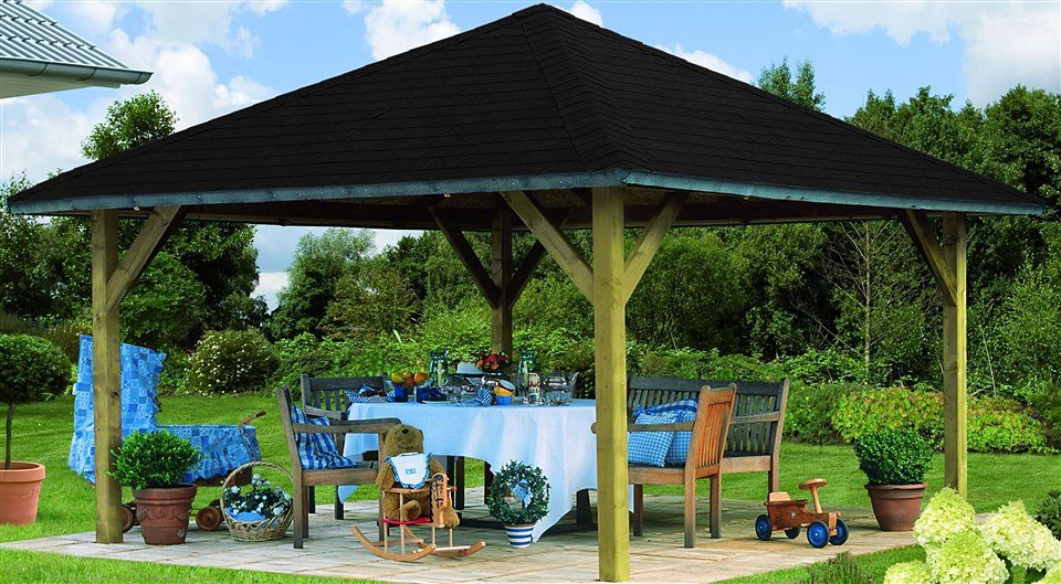 karibu holzpavillon holm 1 online kaufen otto. Black Bedroom Furniture Sets. Home Design Ideas