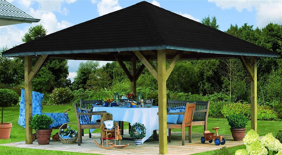 Karibu Holzpavillon »Holm 1«