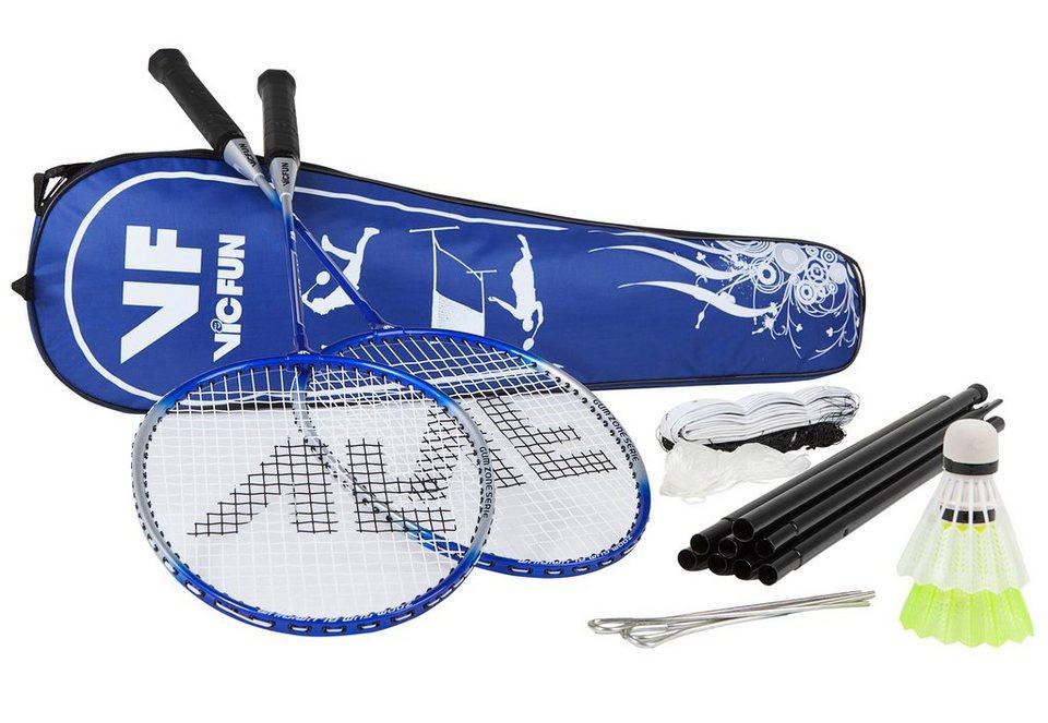 Set: Badminton-Set inkl. 2 Schläger, 3 Nylonbälle, 1 Netz mit Stangen, Victor, »Deluxe XA 2.2«