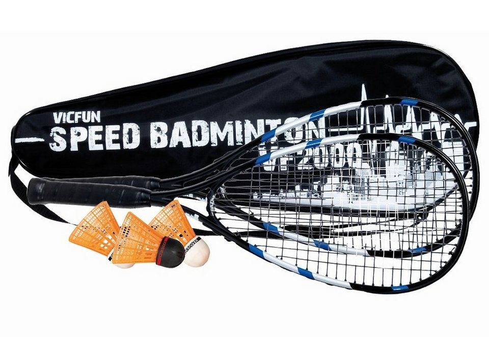 Set: Speedbadminton komplett besaitet, VICFUN, »VF-2000«