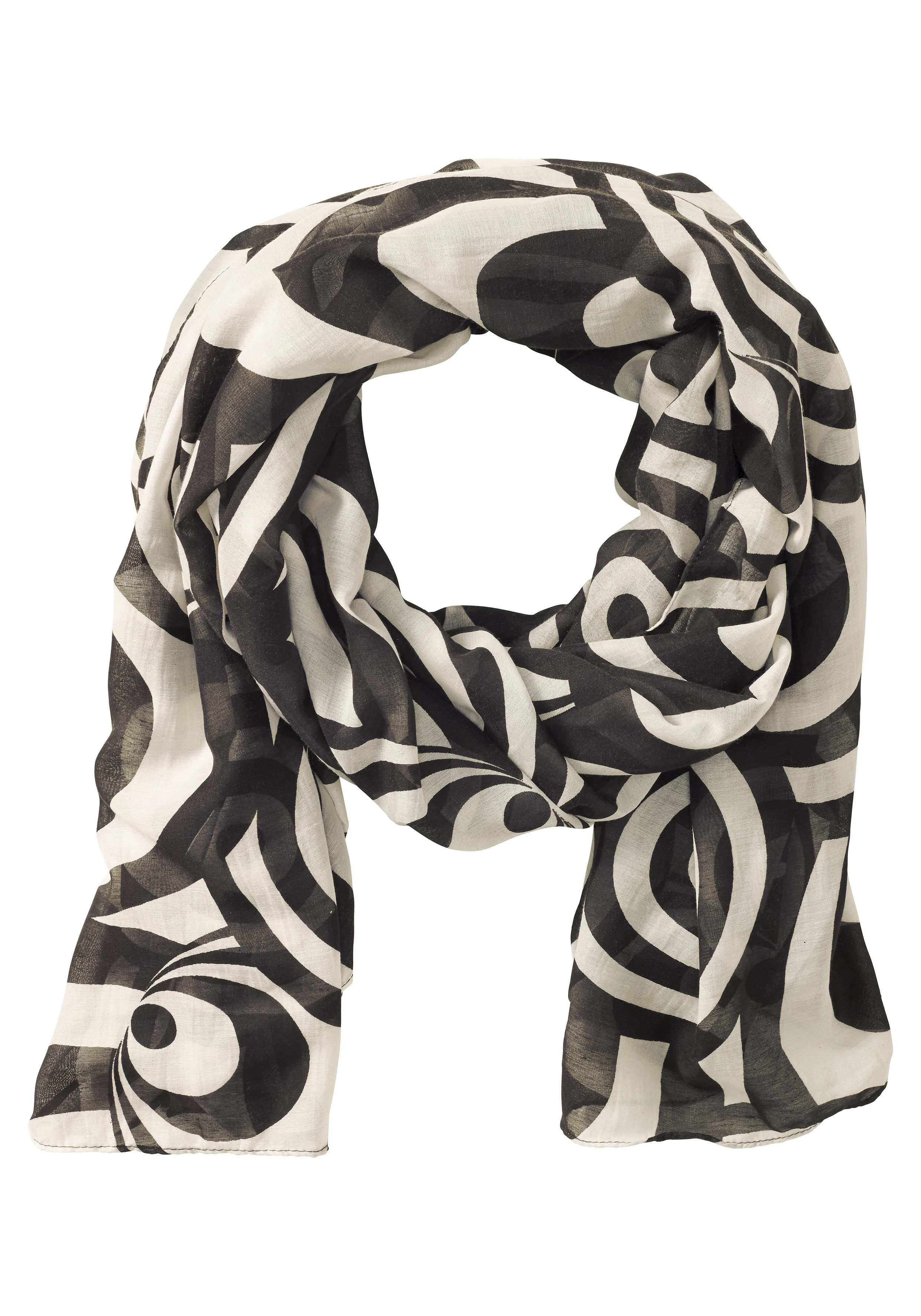 sheego Schal mit Kreis-Muster