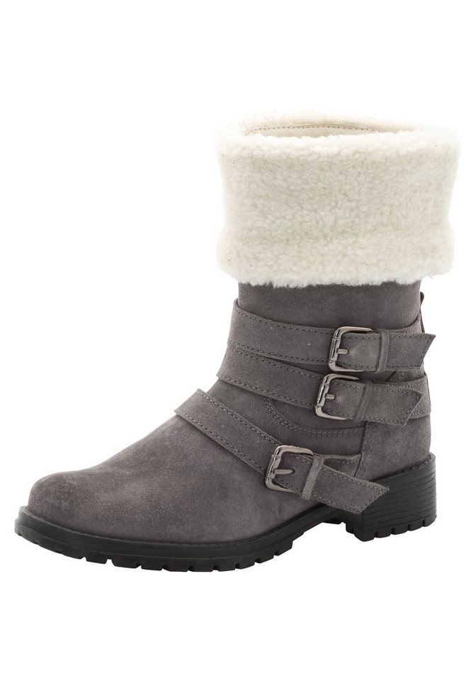 sheego XL-Stiefelette in grau