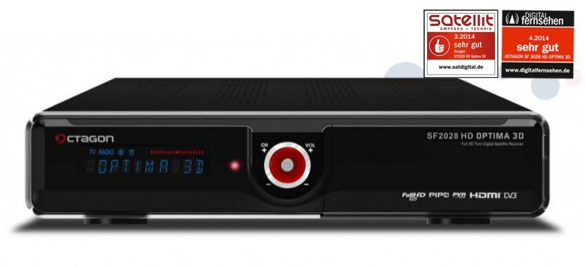 """VCM 3D Full HD Twin Sat Receiver """"SF 2028"""" in schwarz"""