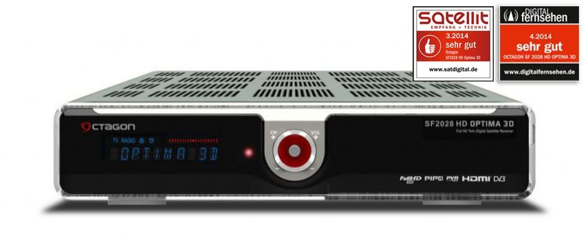 VCM SF 2028 HD Optima 3D Full HD Twin Sat, silber