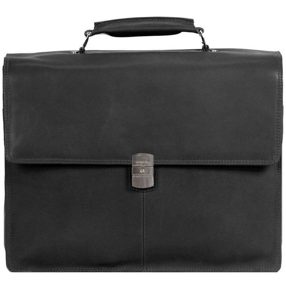 Harold's Country Aktentasche Leder 39 cm Laptopfach in schwarz