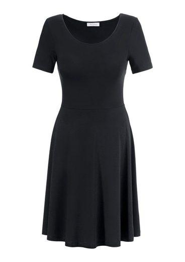 Aniston Strandkleid, mit Blumendruck oder in unifarben Schwarz