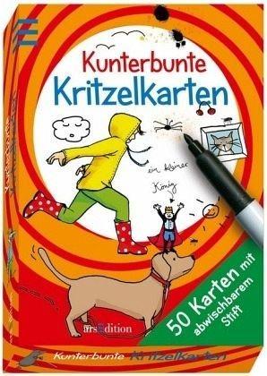 Broschiertes Buch »Kunterbunte Kritzelkarten«