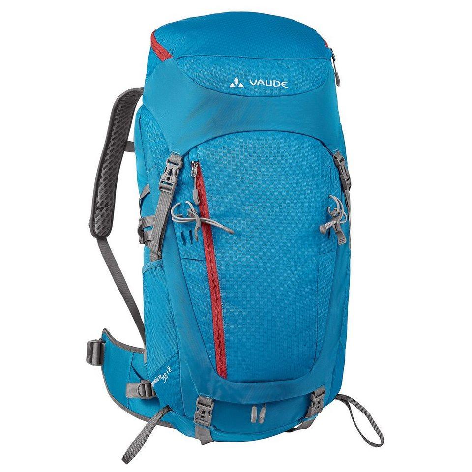 VAUDE Wanderrucksack »Asymmetric 38+8 Backpack Women« in blau