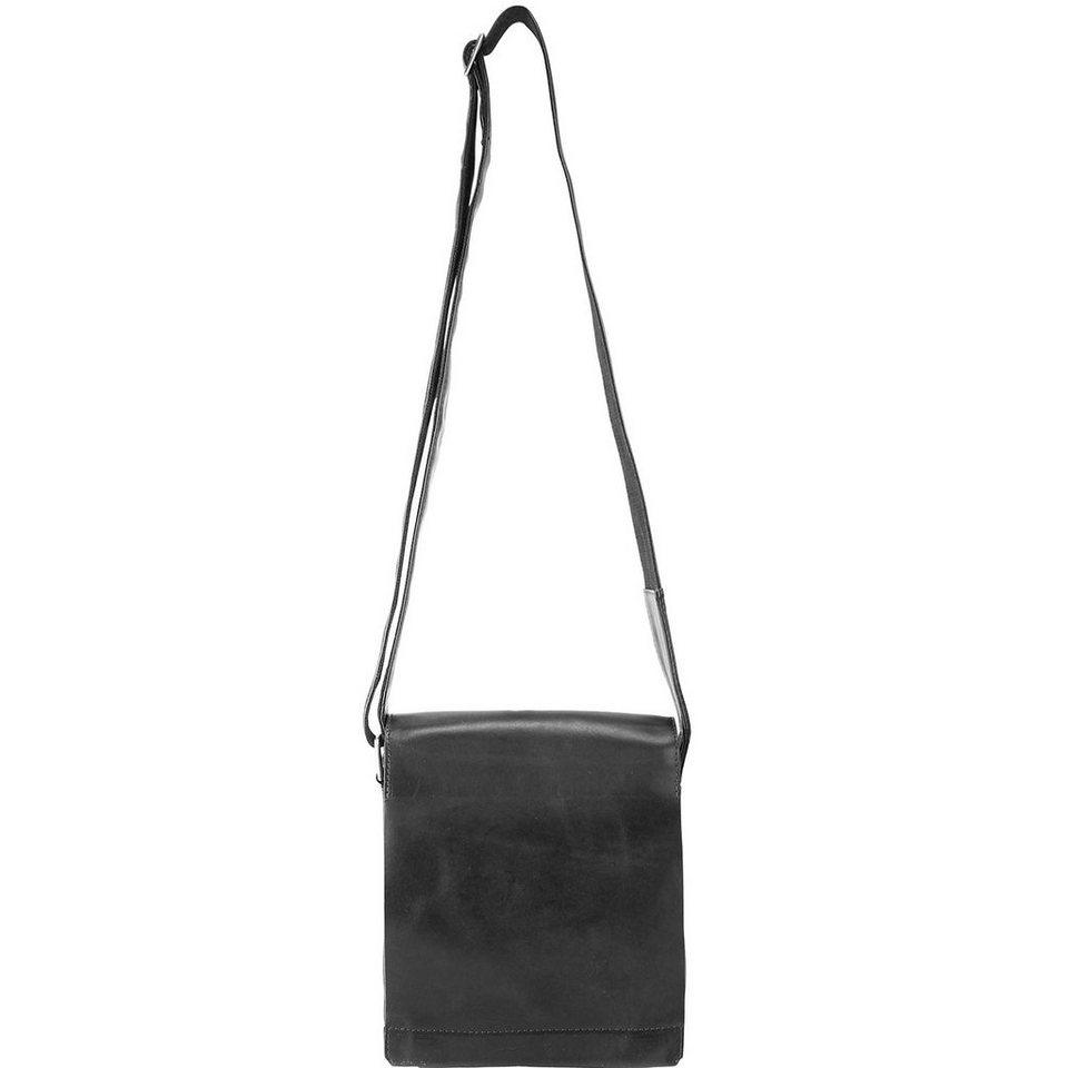 Harold's Lan Umhängetasche Leder 27 cm in schwarz