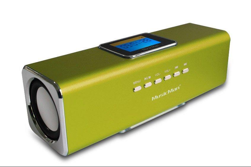Technaxx Lautsprecher »MusicMan MA DISPLAY Soundstation Grün«