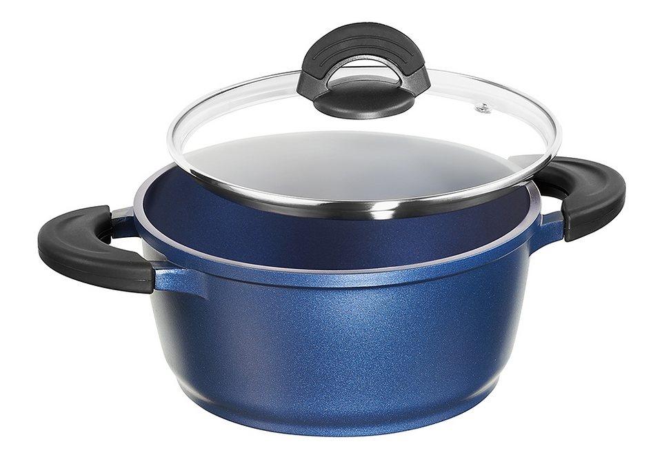 Kochtopf in verschiedenen Größen, Impera in blau