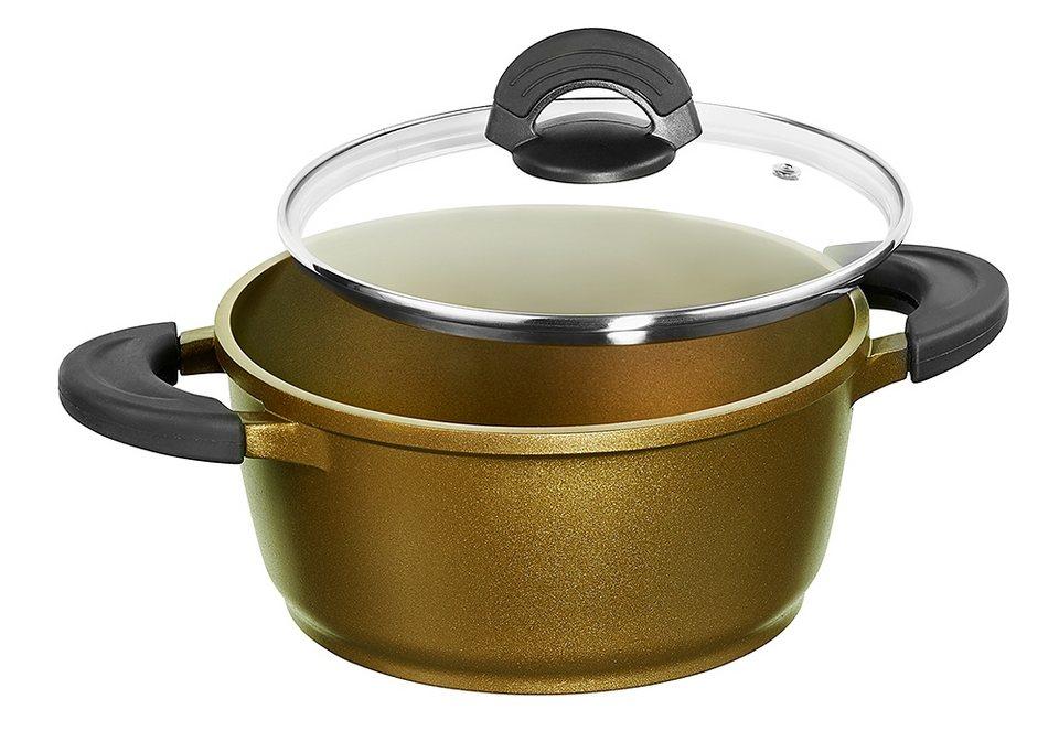 Kochtopf in verschiedenen Größen, Impera in goldfarben