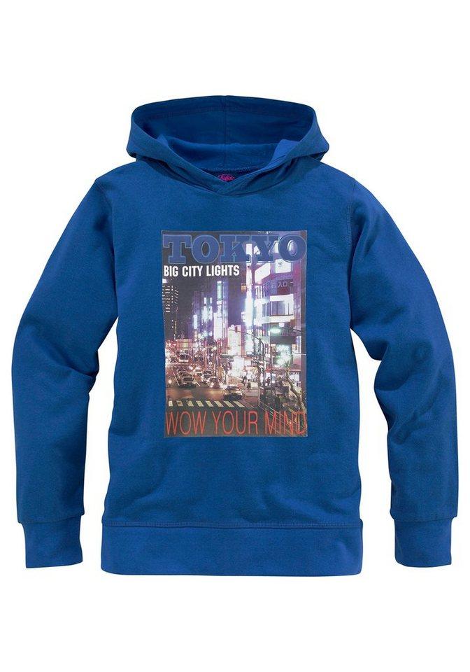 "Buffalo Kapuzensweatshirt ""TOKYO"" in royalblau"