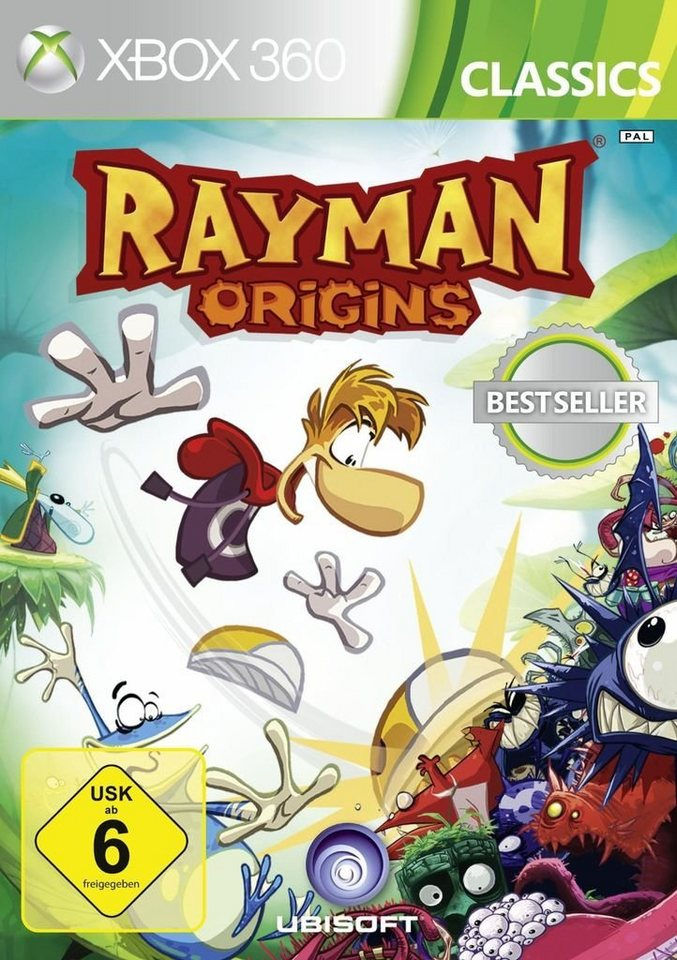 ubisoft xbox 360 spiel rayman origins classics 2014. Black Bedroom Furniture Sets. Home Design Ideas