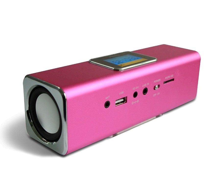 Technaxx Lautsprecher »MusicMan MA DISPLAY Soundstation Rosa«
