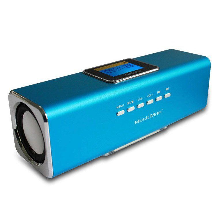 Technaxx Lautsprecher »MusicMan MA DISPLAY Soundstation blau«