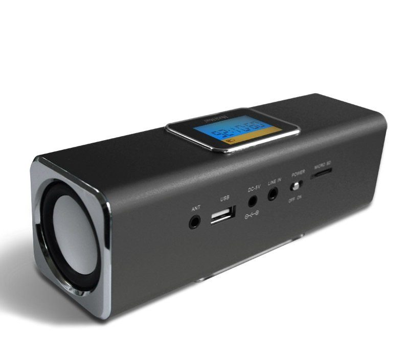 Technaxx Lautsprecher »MusicMan MA DISPLAY Soundstation Schwarz«