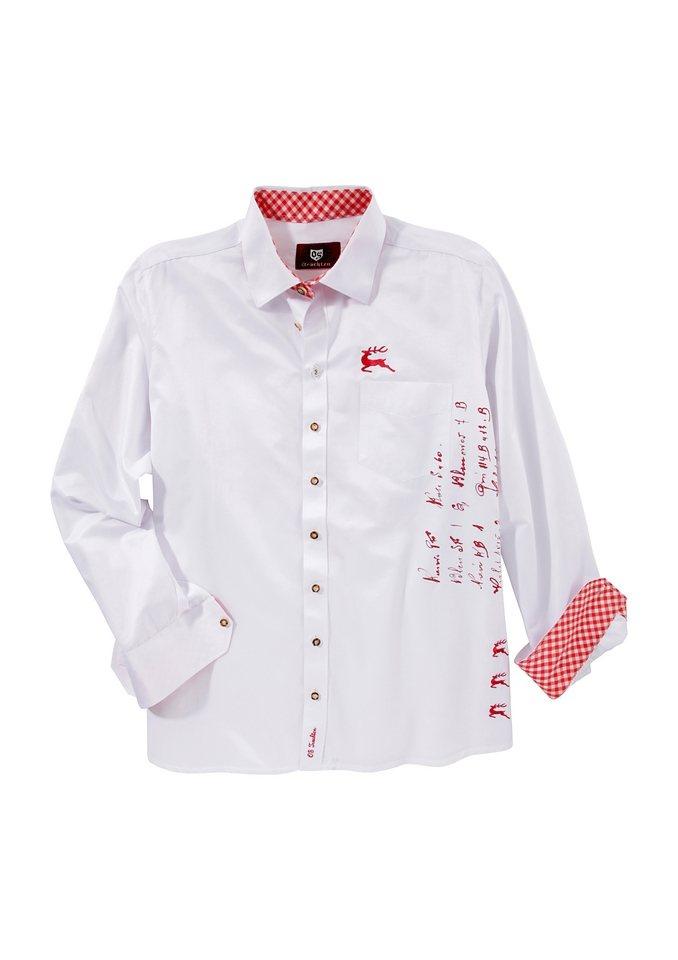 Trachtenhemd, OS-Trachten in weiß