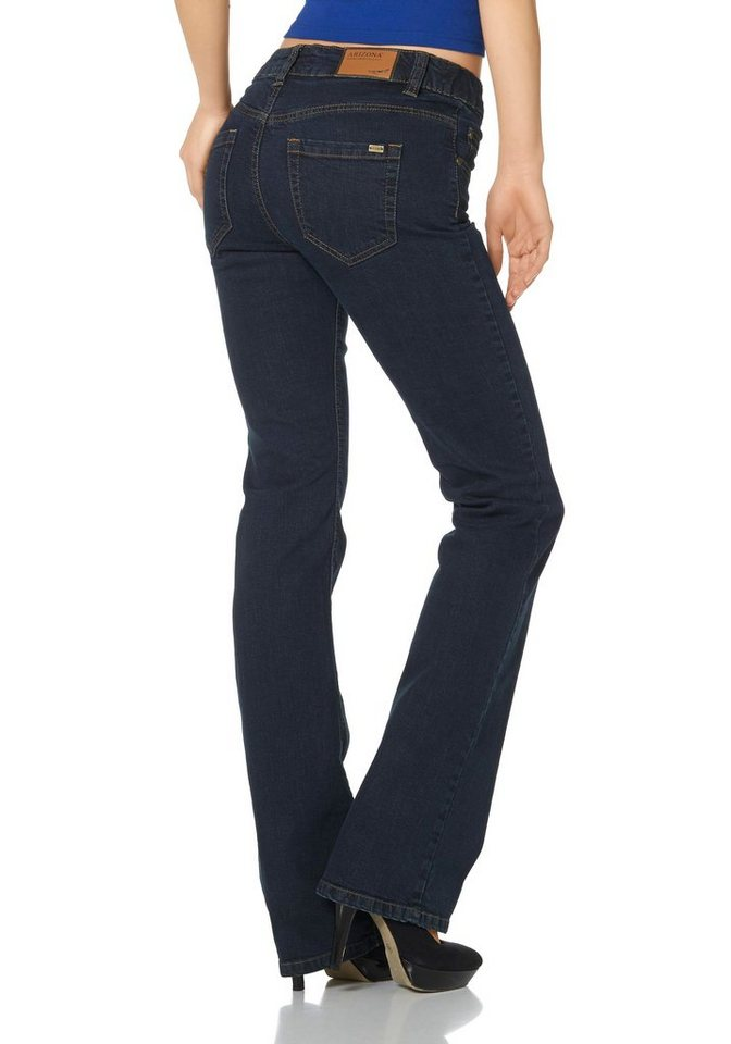 Arizona Bootcut-Jeans »Svenja« High Waist in rinsed