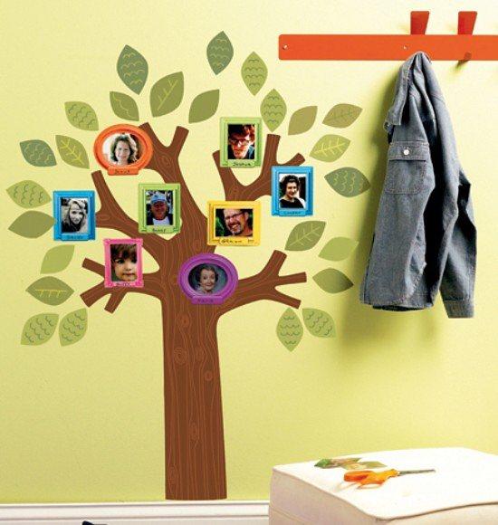 WALLIES Wandsticker Familienstammbaum in braun