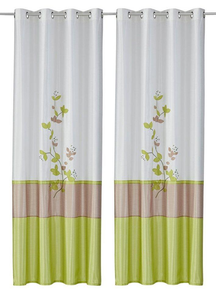 Vorhang, my home, »Markim« (2 Stück) in creme-grün