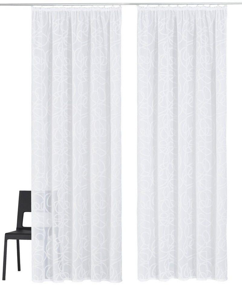Gardine, My Home, »Tanaro« (2 Stück) in weiß