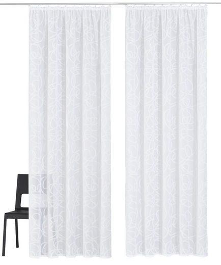 Gardine »Tanaro«, my home, Kräuselband (2 Stück), Vorhang, Fertiggardine, transparent