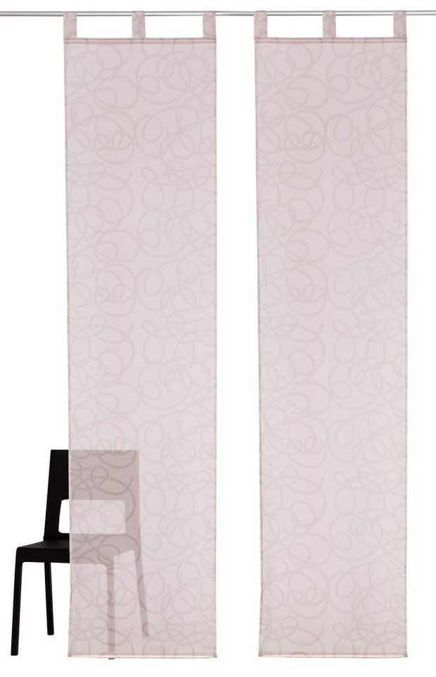 schiebegardine tanaro my home schlaufen 2 st ck. Black Bedroom Furniture Sets. Home Design Ideas