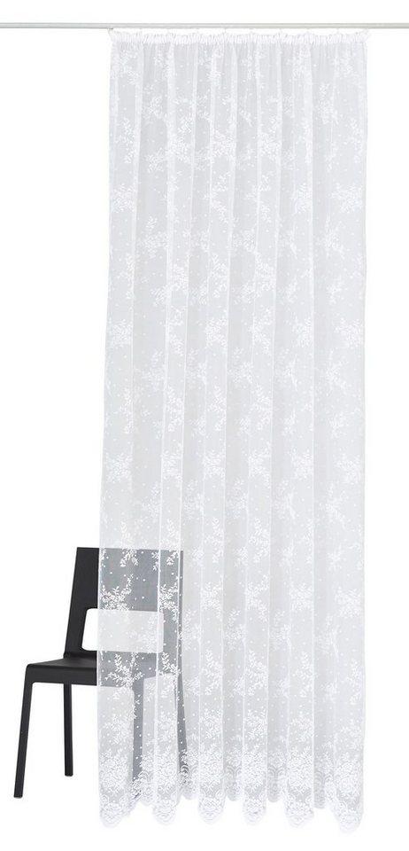Gardine, my home, »Thur«, mit Kräuselband (1 Stück) in weiß