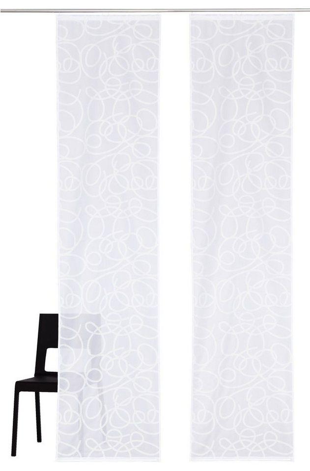 Schiebegardine, My Home, »Tanaro« mit Zubehör (2 Stück ) in weiß