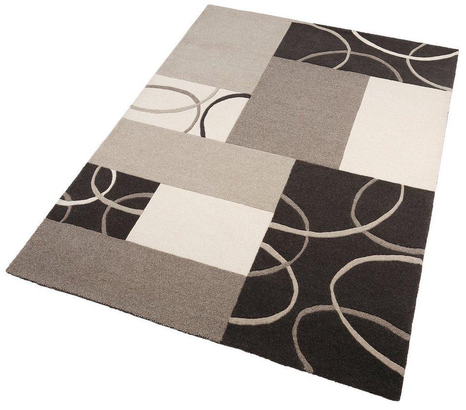 Teppich, Home Affaire Collection, »Paul«, handgearbeitet, reine Wolle, 4 kg/m² in grau