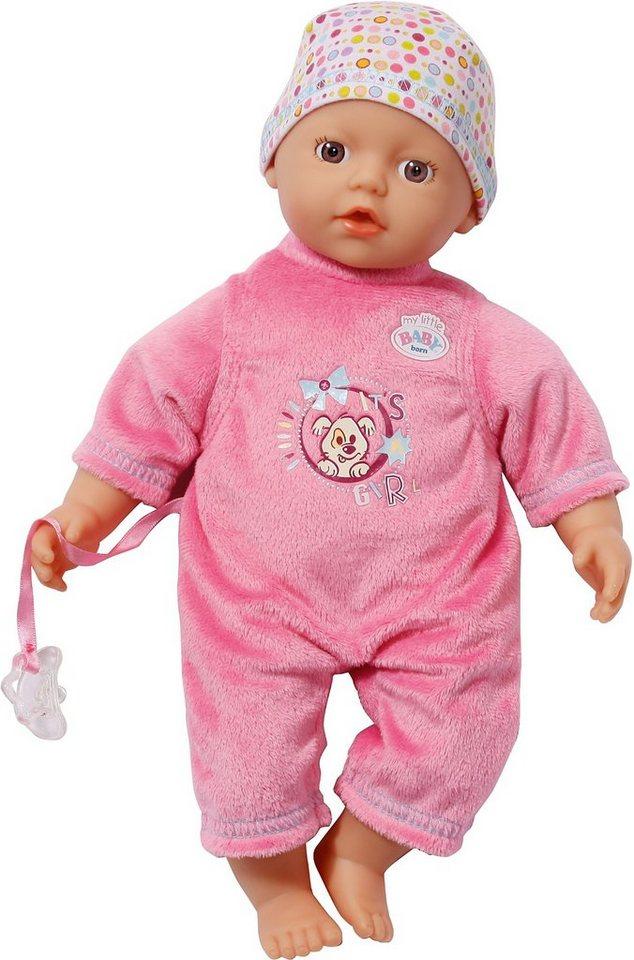 zapf creation my little baby born babypuppe super soft dark pink 32 cm online kaufen otto. Black Bedroom Furniture Sets. Home Design Ideas