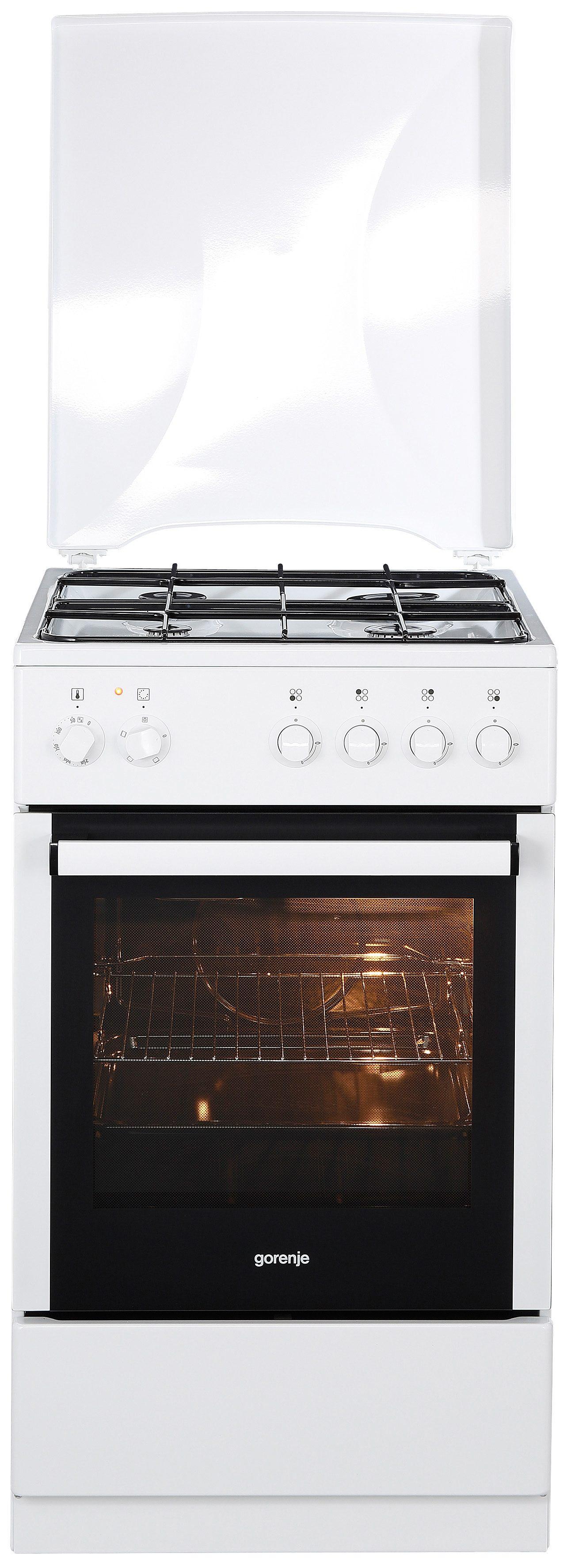 Gorenje Gas-Elektro-Standherd K 51101 AW, A, 50 cm breit