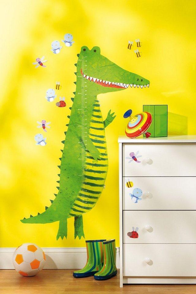 WALLIES Wandsticker Messlatte Krokodil