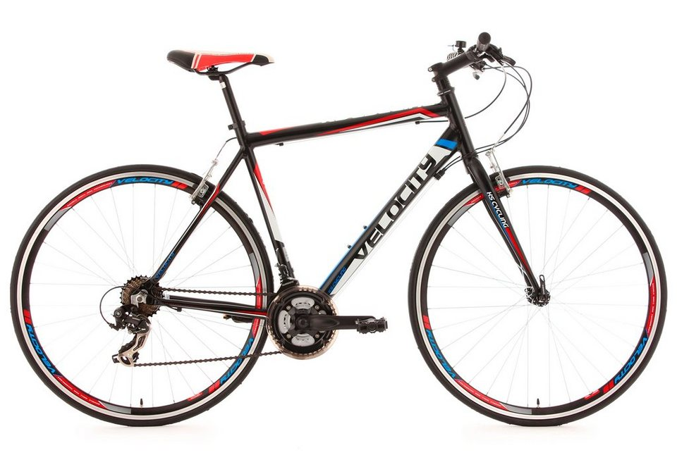 Fitnessbike, 28 Zoll, schwarz, 21 Gang Kettenschaltung, »Velocity«, KS Cycling in schwarz
