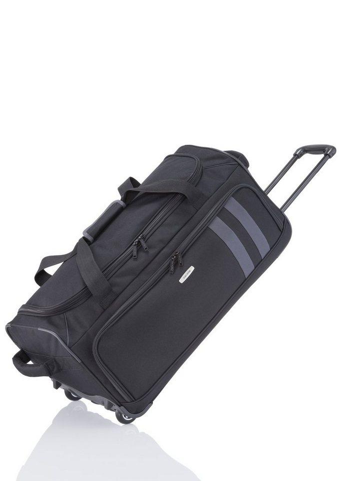 travelite, Trolley Reisetasche mit 2 Rollen, »Basics« in schwarz