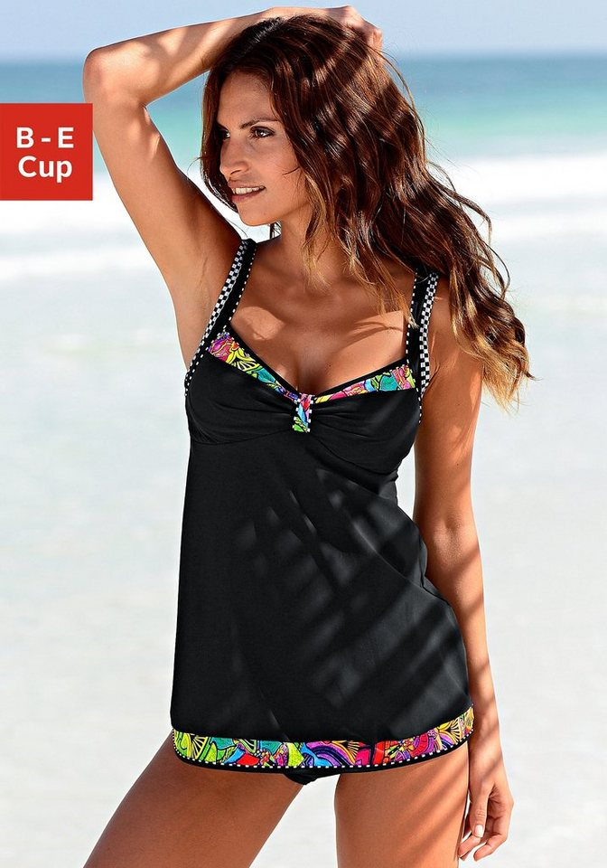 sunflair tankini mit bunten kontrasteins tzen otto. Black Bedroom Furniture Sets. Home Design Ideas