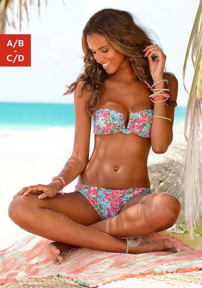 Bandeau-Bikini, s.Oliver RED LABEL Beachwear in pink bedruckt