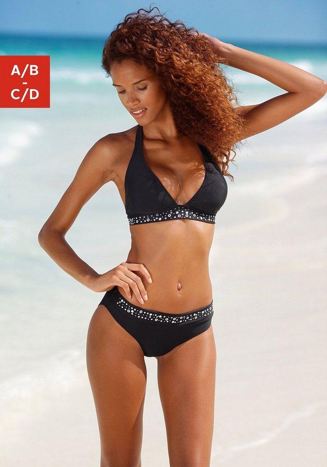 lascana triangel bikini mit ziernieten kaufen otto. Black Bedroom Furniture Sets. Home Design Ideas