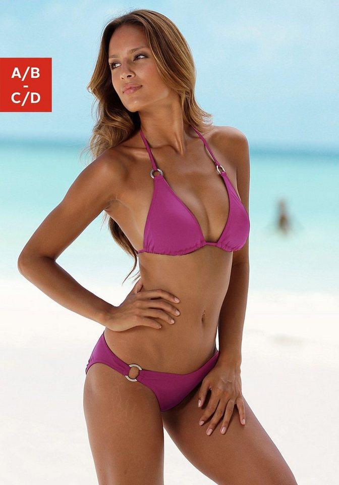Triangel-Bikini, Chiemsee in fuchsia