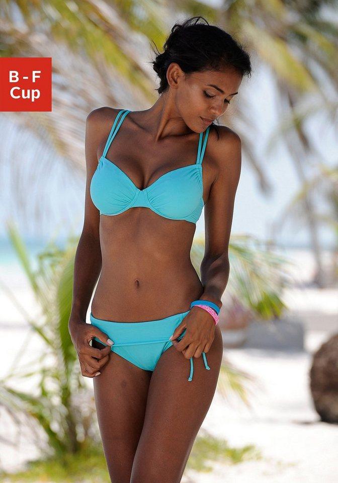 Bademode - Buffalo Bügel Bikini Top »Happy«, seitlich zu raffen › blau  - Onlineshop OTTO